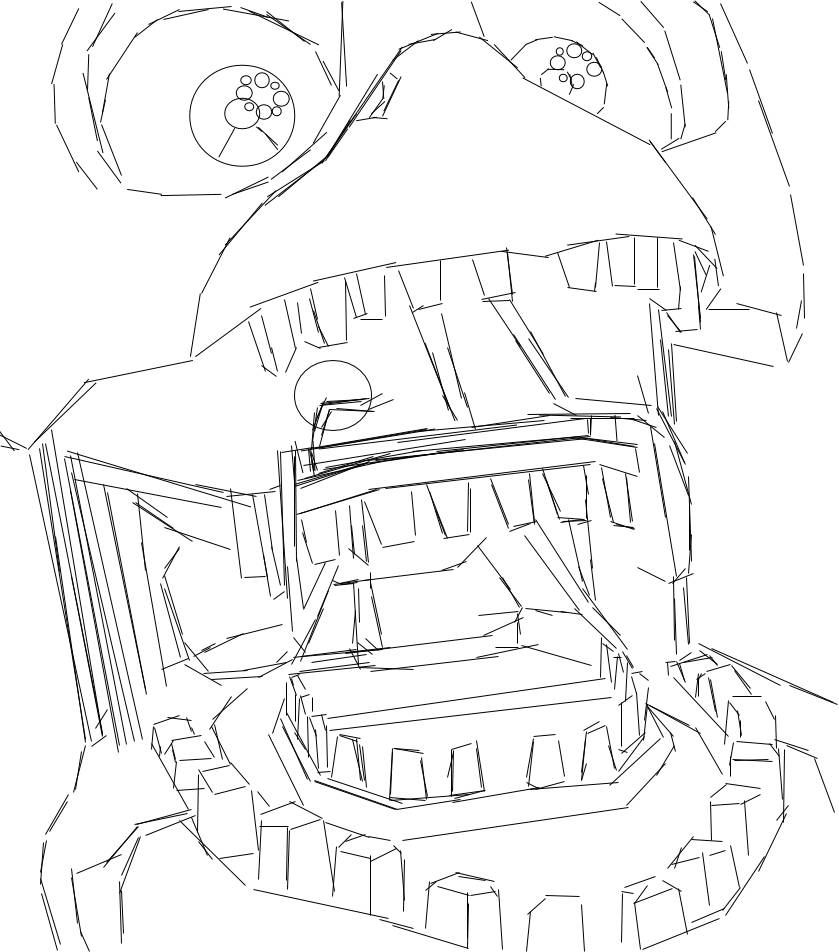 839x952 Withered Chica Icon Coloring Page