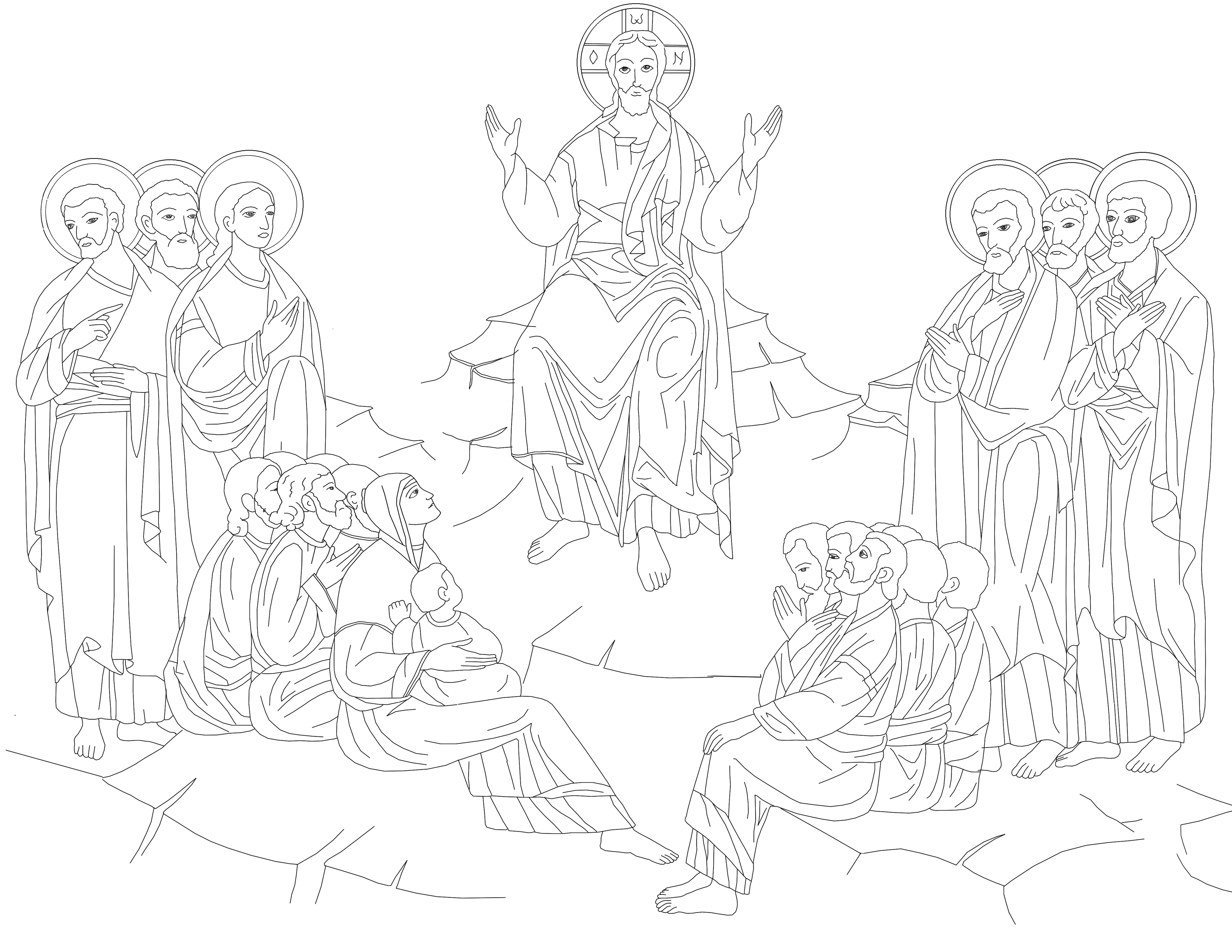 4241x3277 Free Catholic Coloring Pages, Free Icon Coloring Pages