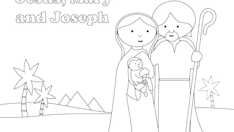 750x425 Holy Family Coloring Page Holy Family Coloring Pages X Holy Family