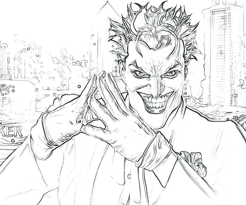 800x667 Batman Joker Coloring Pages And Robin Page For The Decor