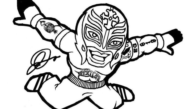 750x425 Wwe Coloring Pages Rey Mysterio Coloring