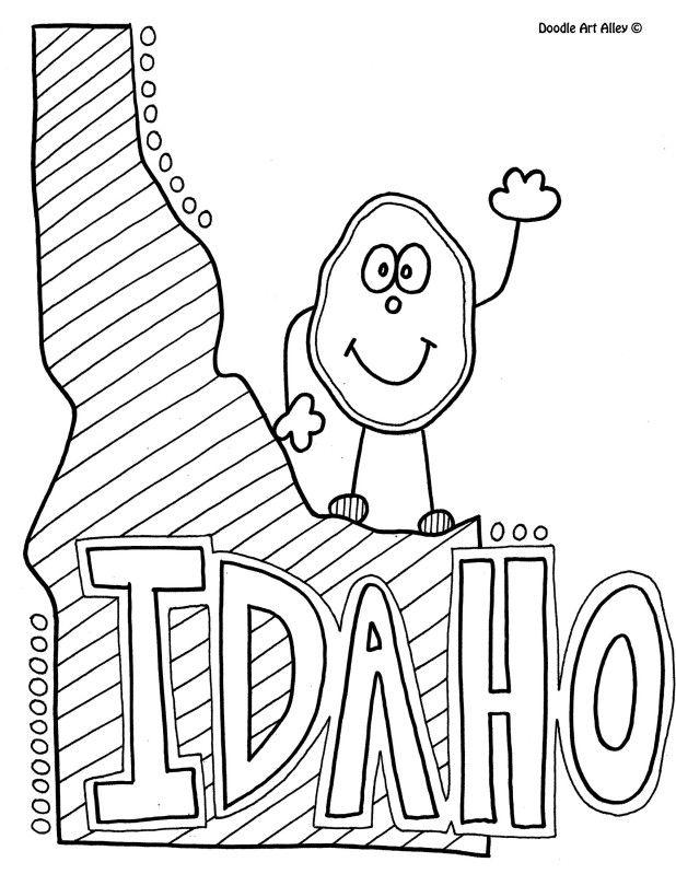 618x799 Idaho Coloring Page