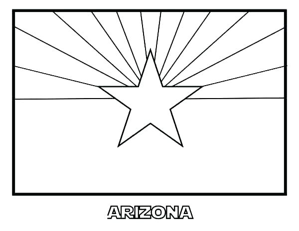 600x464 Idaho State Flag Coloring Page