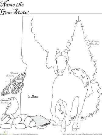 335x440 Idaho State Symbols Coloring Pages