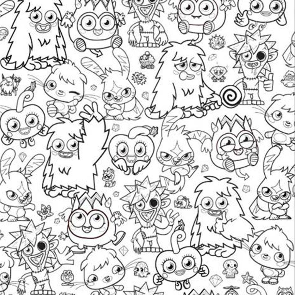 1000x1000 Iggy Moshi Monsters Coloring Page Printable Pages Click The River