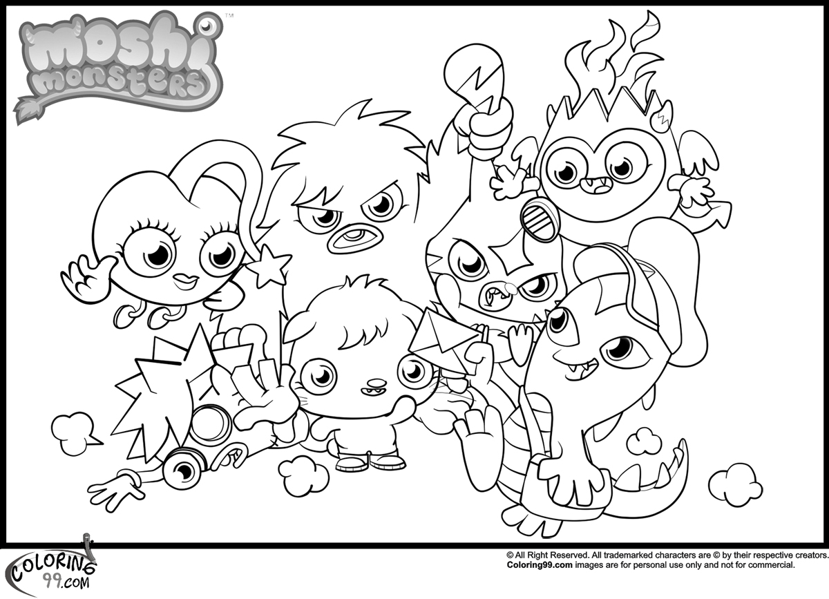 1200x867 Surging Moshi Monsters Coloring Pages Team Col
