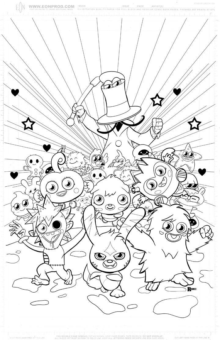 720x1113 Easy Moshi Monsters Coloring Pages Katsuma In Google Monster