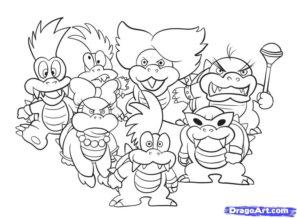 Iggy Koopa Coloring Pages