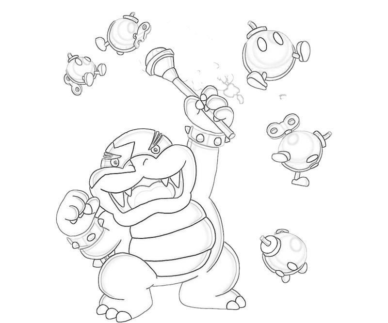 800x667 Dry Bowser Coloring Pages Dark Bowser Coloring Pages Grig Org Rh