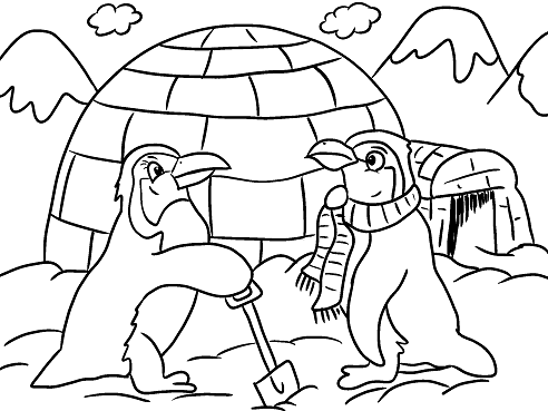 Igloo Coloring Page At Getdrawings Com Free For Personal Use Igloo
