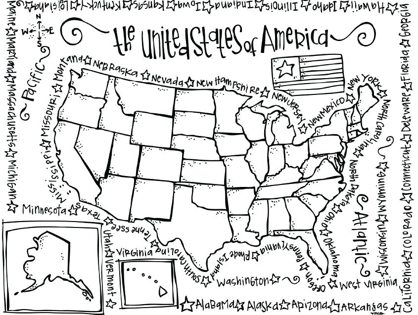 845x637 Illinois Coloring Pages Free Us Map Coloring Page Map Coloring
