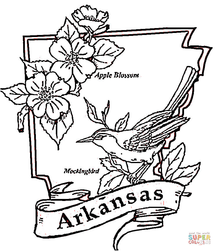 750x868 Arkansas Coloring Page Free Printable Pages On Illinois State Flag