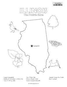 231x299 Illinois Coloring Page Teaching Squared Fun