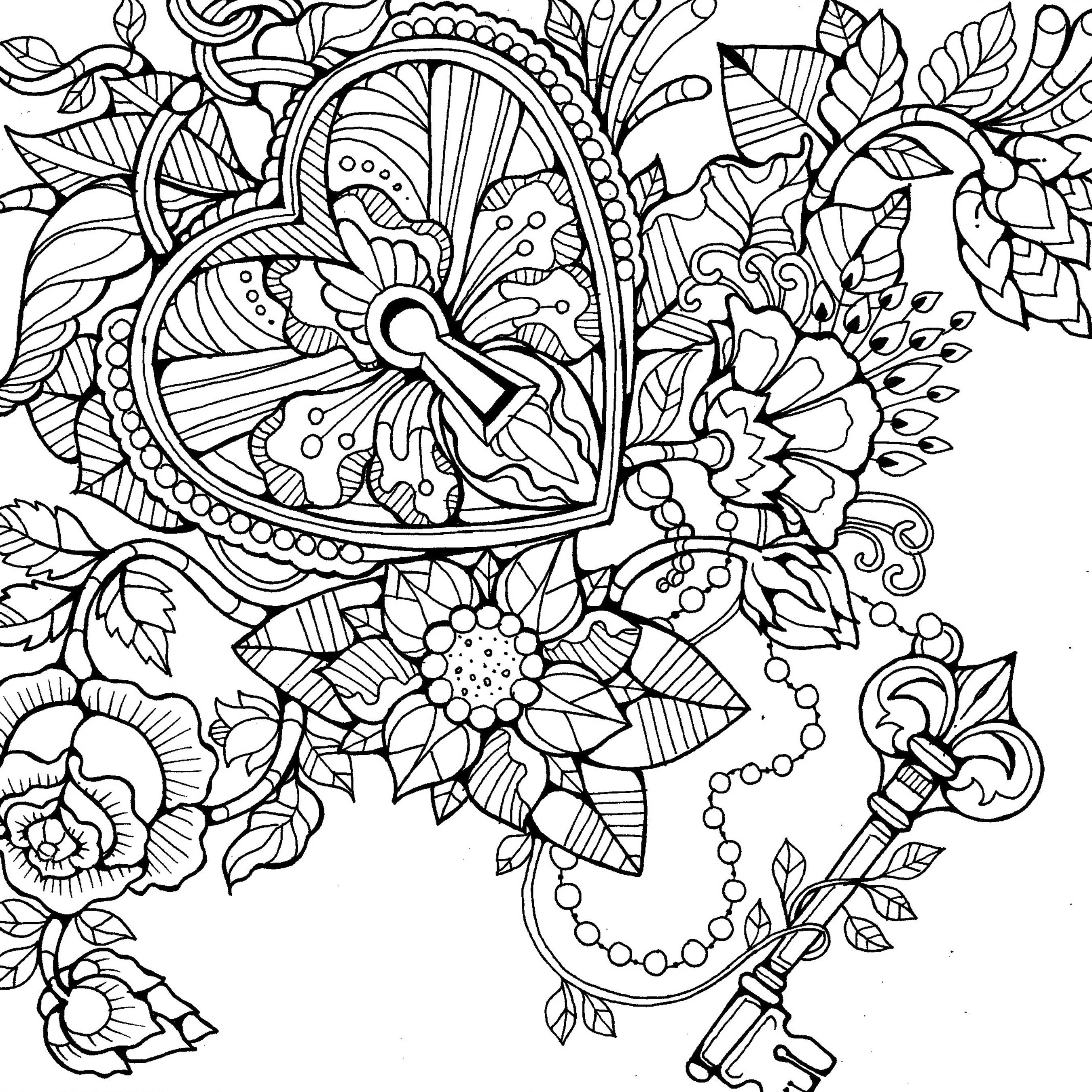 2700x2700 Outstanding State Flower Coloring Pages Festooning