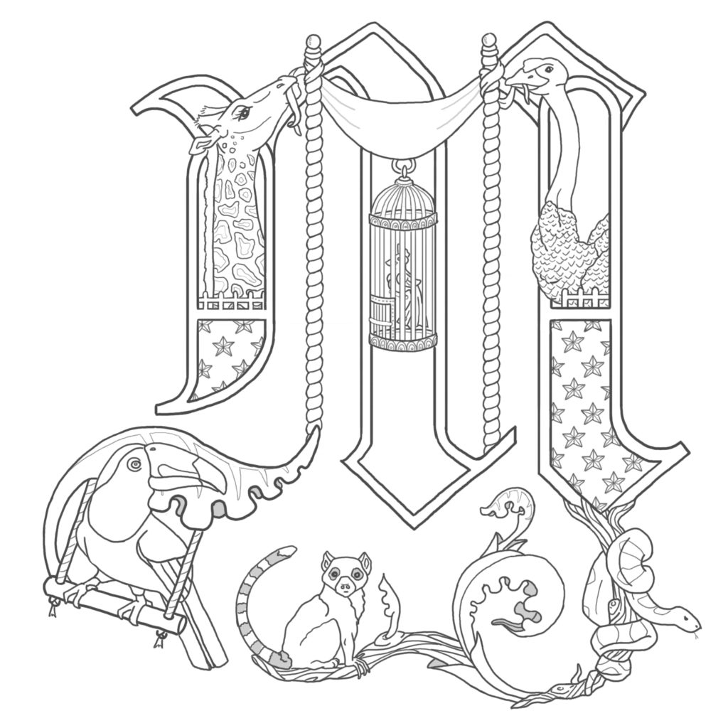 The best free Mcript coloring page images. Download from ... Meval Illuminated Letter Templates Printable on