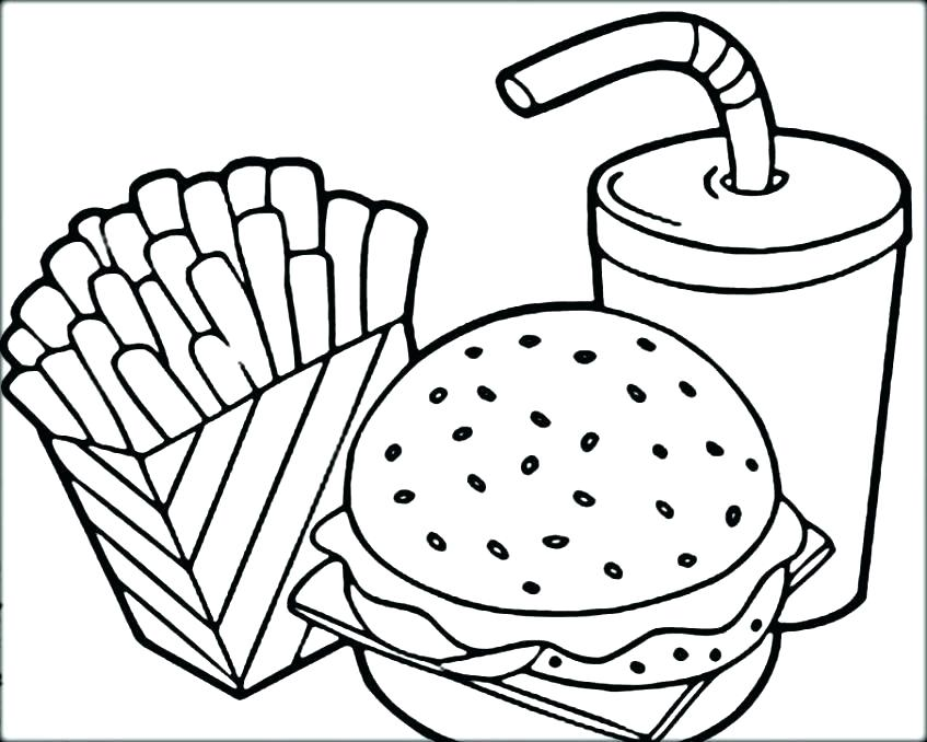 847x678 Food Coloring Pages Food Coloring Free Coloring Pages Food
