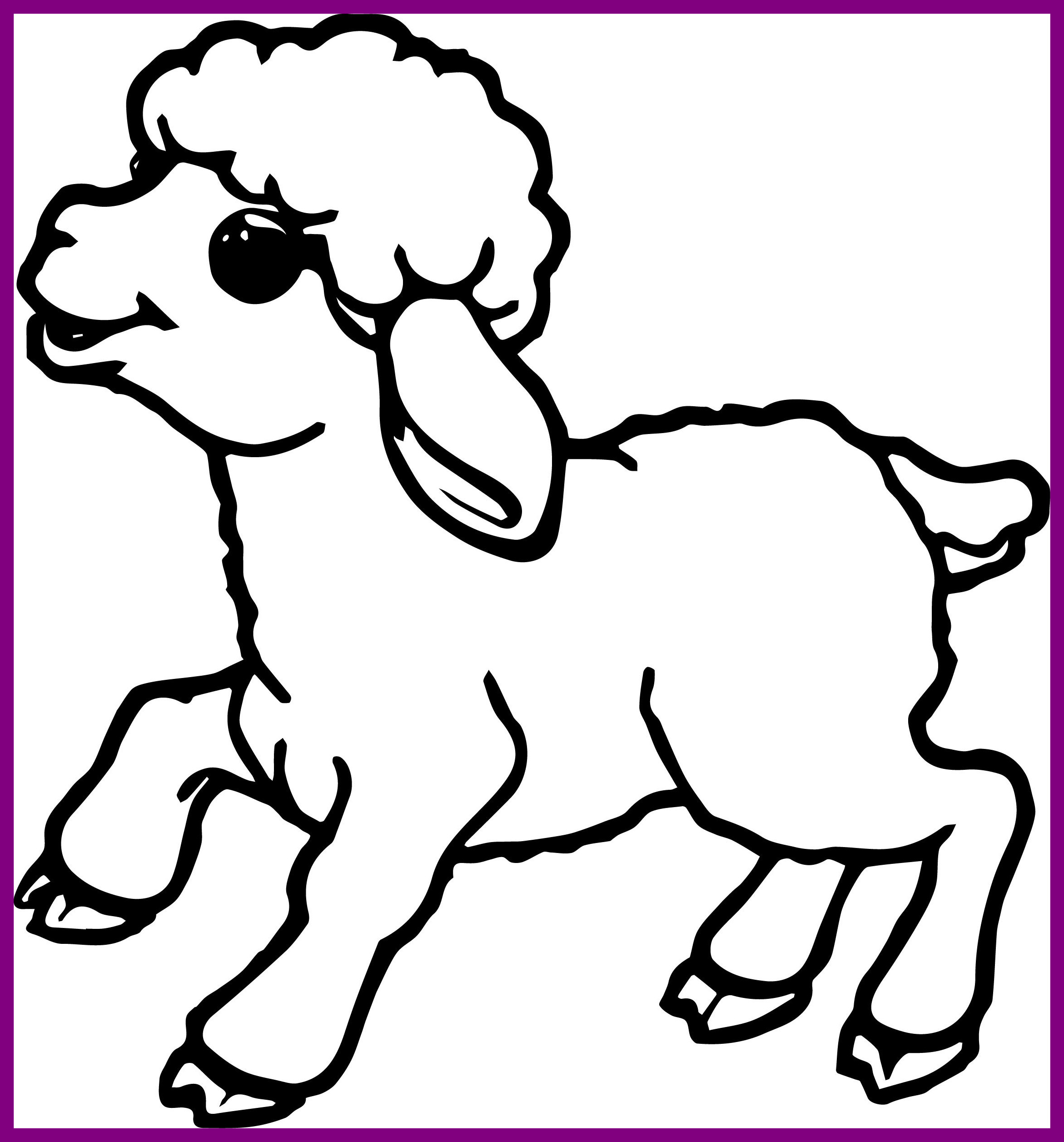 2342x2513 Best Cute Small Sheep Coloring Page Wecoloringpage Pics Of Pet