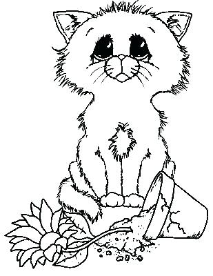 309x400 Click Image For More Cat Color Cat Coloring I Am Sorry Coloring
