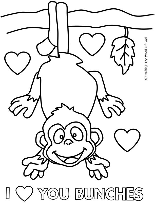 612x800 I Love You Bunches Coloring Page Crafting The Word Of God