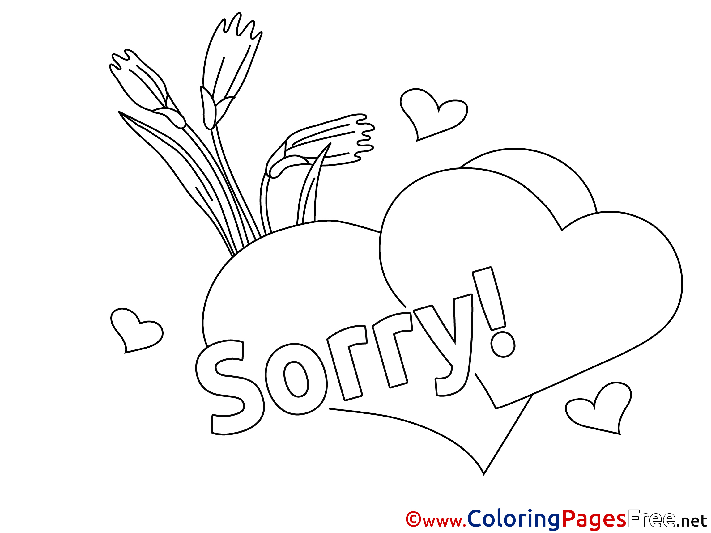 2300x1725 Sorry Coloring Pages
