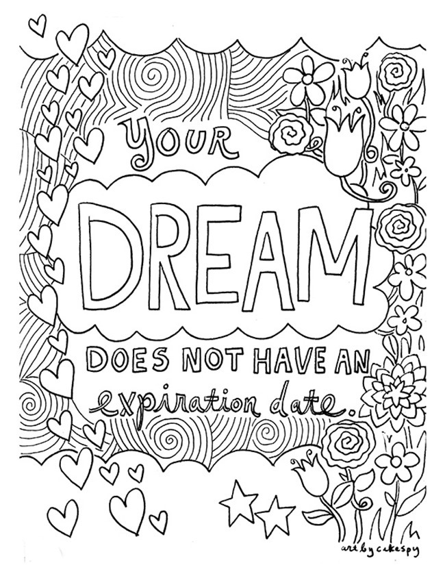 650x841 Inspiring Quote Coloring Pages For Printables