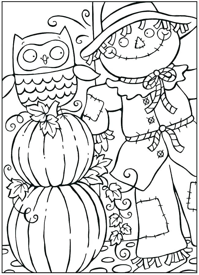 650x900 Coloring Pages Autumn