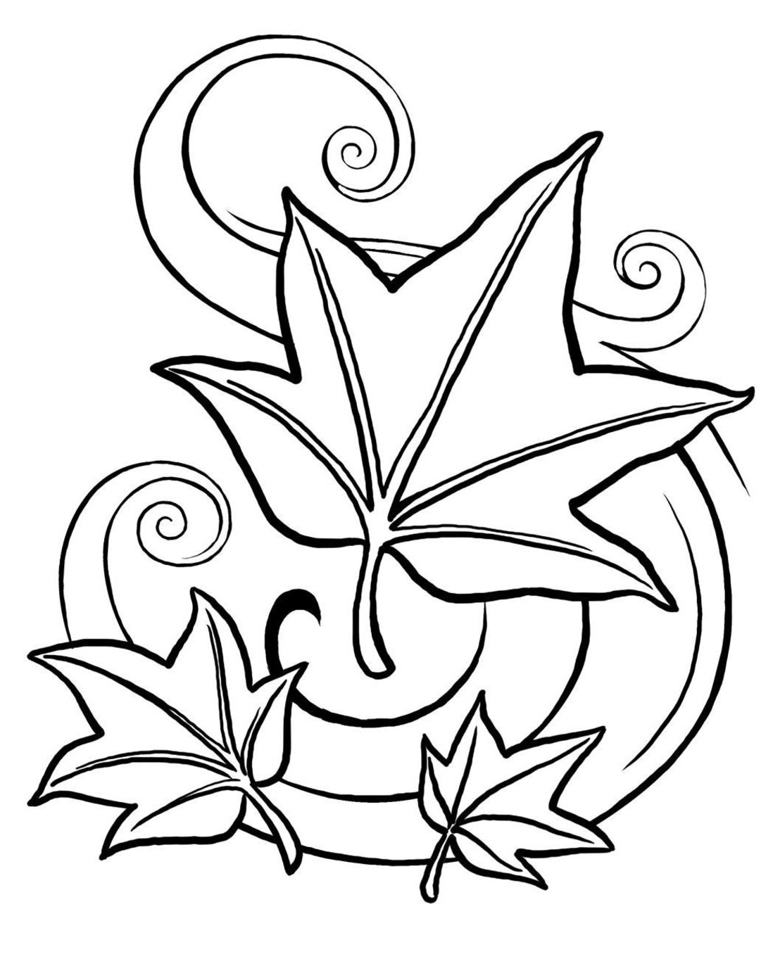 1098x1373 Fall Coloring Pages