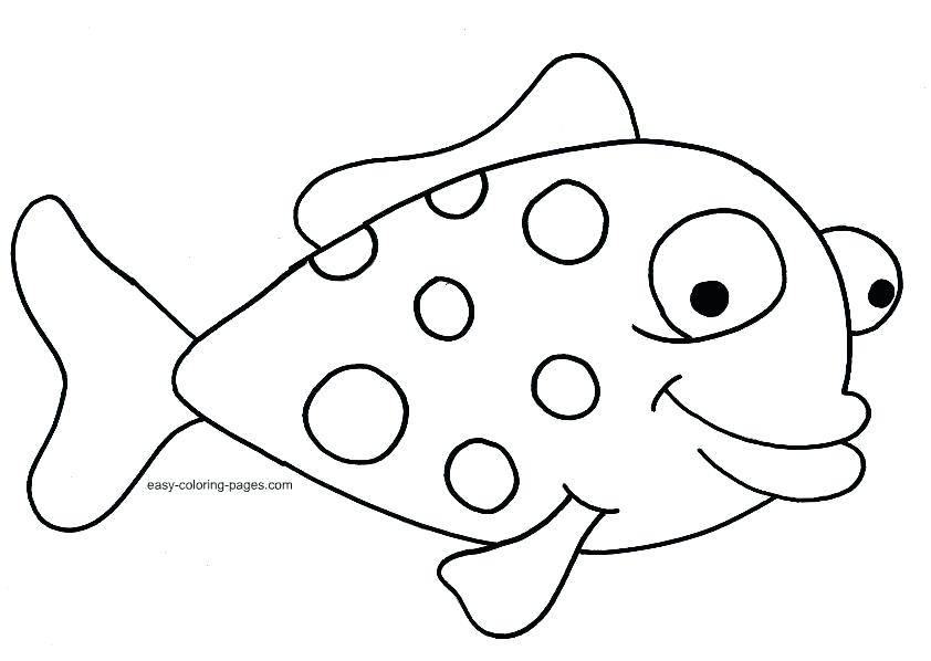 842x598 Fish Coloring Pages To Print
