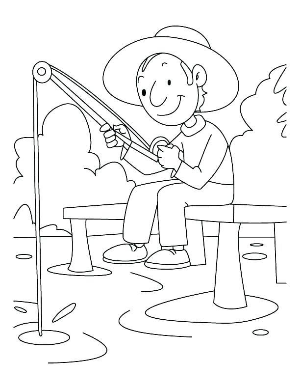 612x792 Fishing Coloring Pages Fishing Coloring Pages Fish Coloring Pages