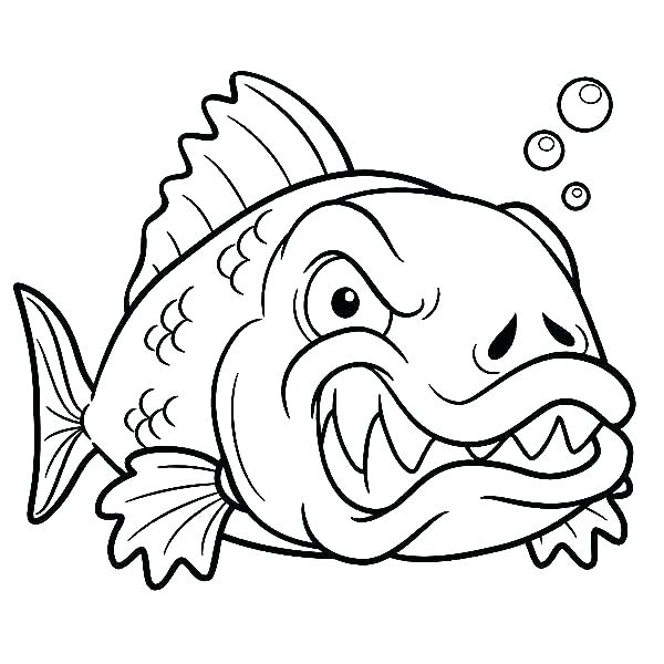 600x600 Realistic Fish Coloring Pages Coloring Page Of Fish Fishing