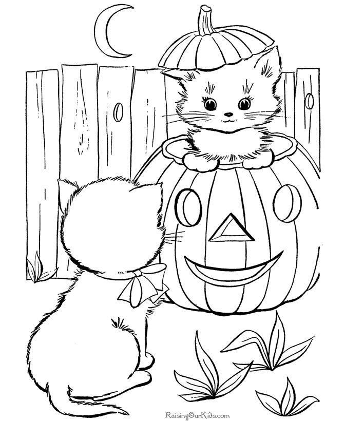 Images Of Halloween Coloring Pages
