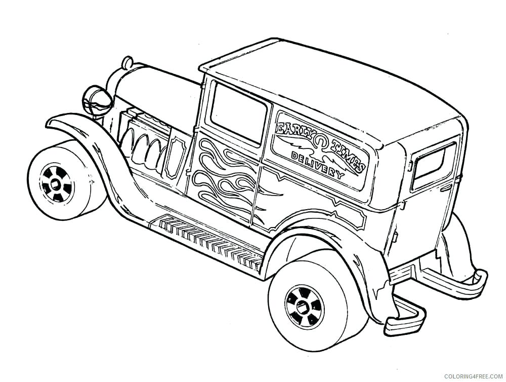 1000x754 Hot Rod Coloring Pages Rat Rod Embroidery Pattern Embroidery Rat
