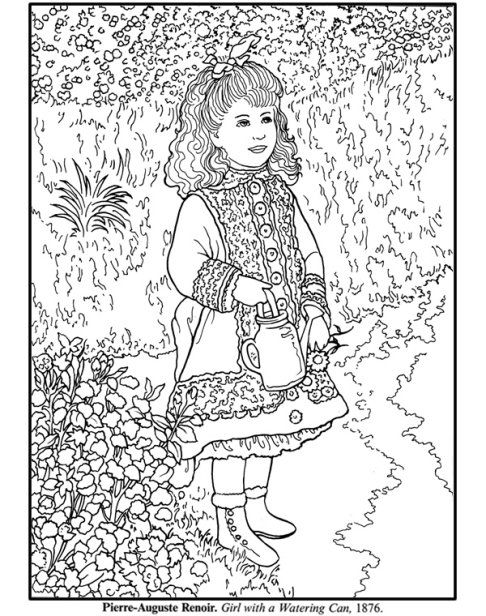 486x616 Artist Of The Month Renoir Renoir Coloring Pages Impressionist