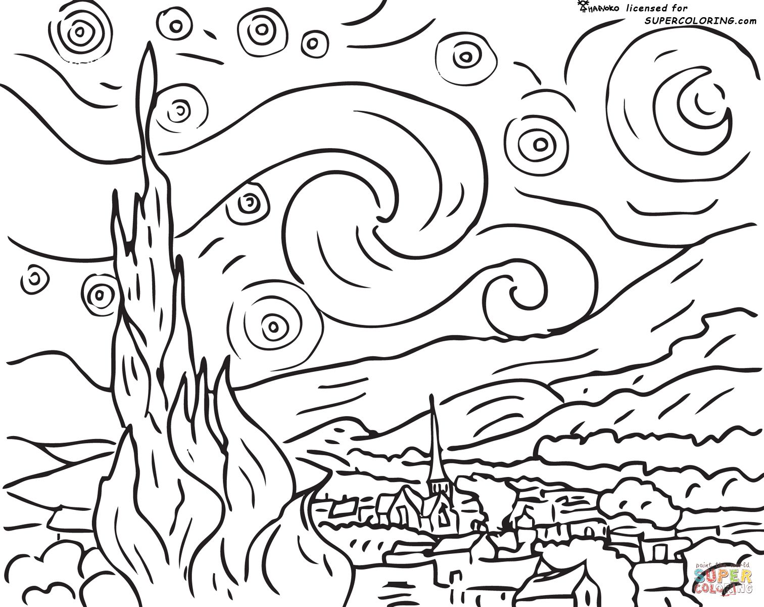 1512x1200 Impressionist Coloring Pages