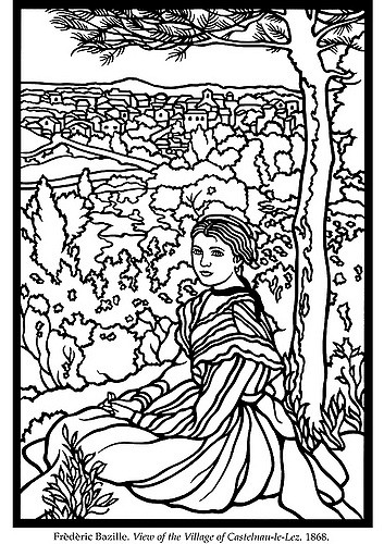 353x500 Impressionist Artist Coloring Pages