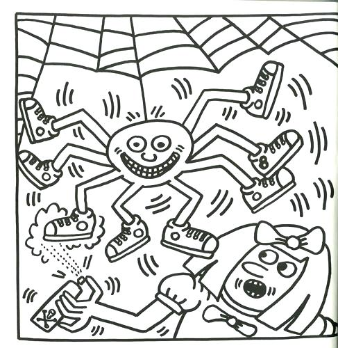 487x500 Keith Haring Coloring Pages Coloring Pages Impressionist Art