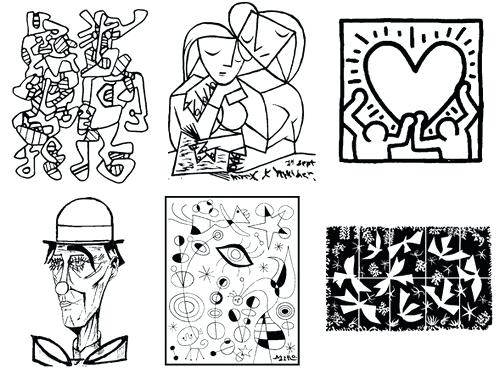 500x369 Coloring Pages Of Famous Paintings Colouring Pages Famous