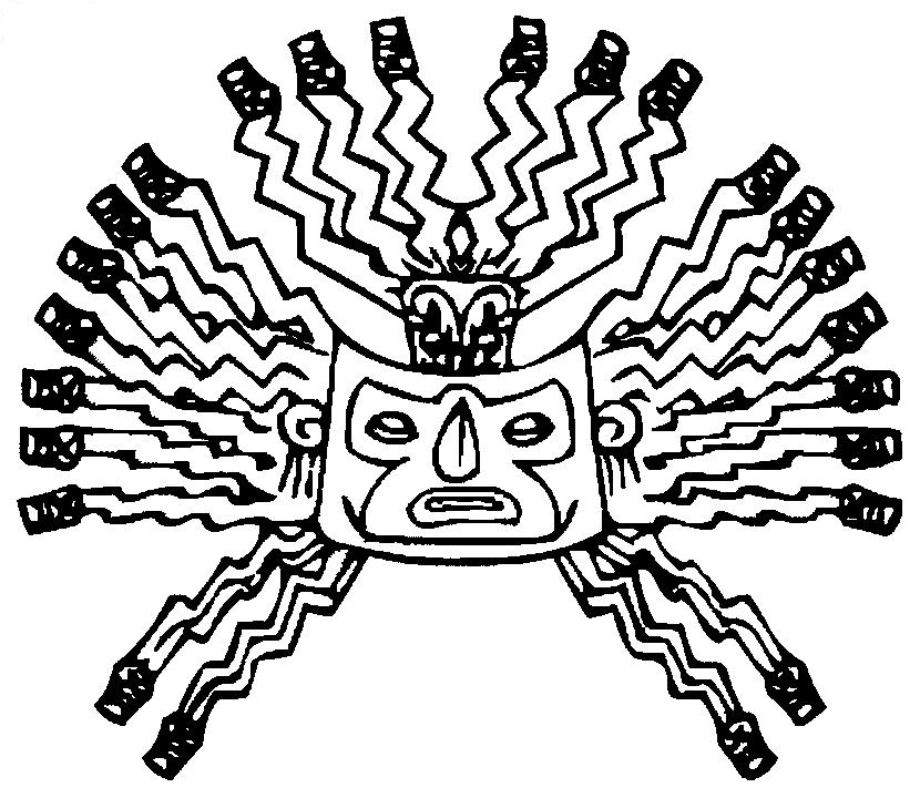 830x720 Inca Empire Coloring Page