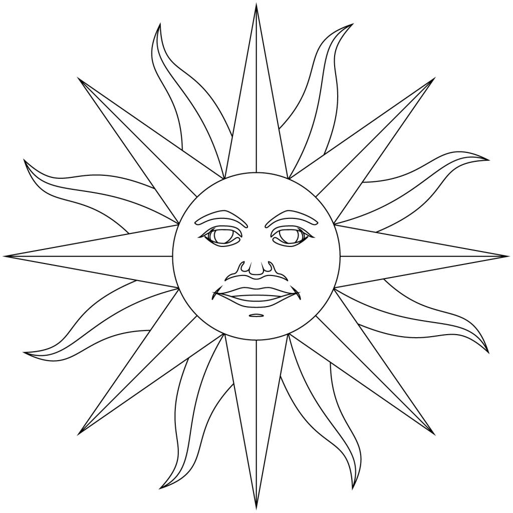 1024x1024 Inti Incan God Of Sun Inca Empire Coloring Page