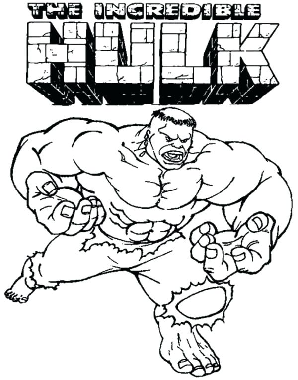 600x764 Incredible Hulk Coloring Page The Incredible Hulk Coloring Page