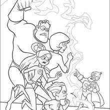 220x220 The Incredibles Coloring Book Pages