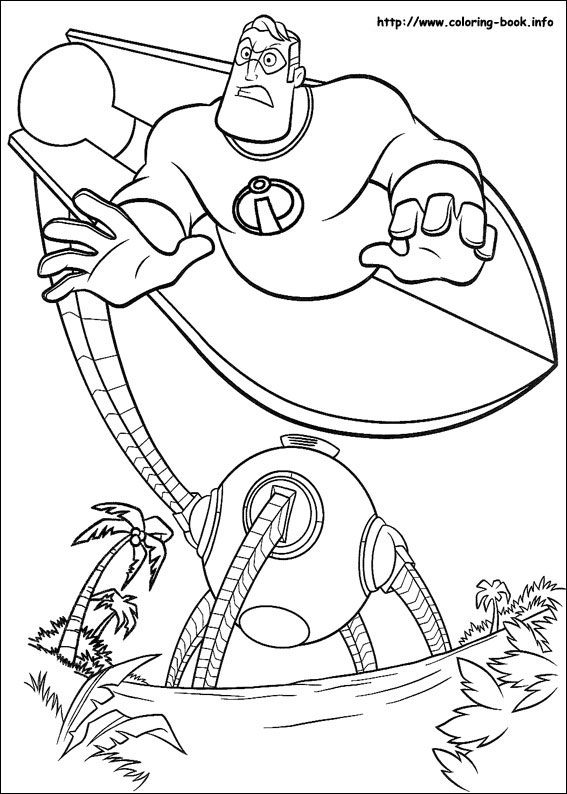567x794 The Incredibles Coloring Picture