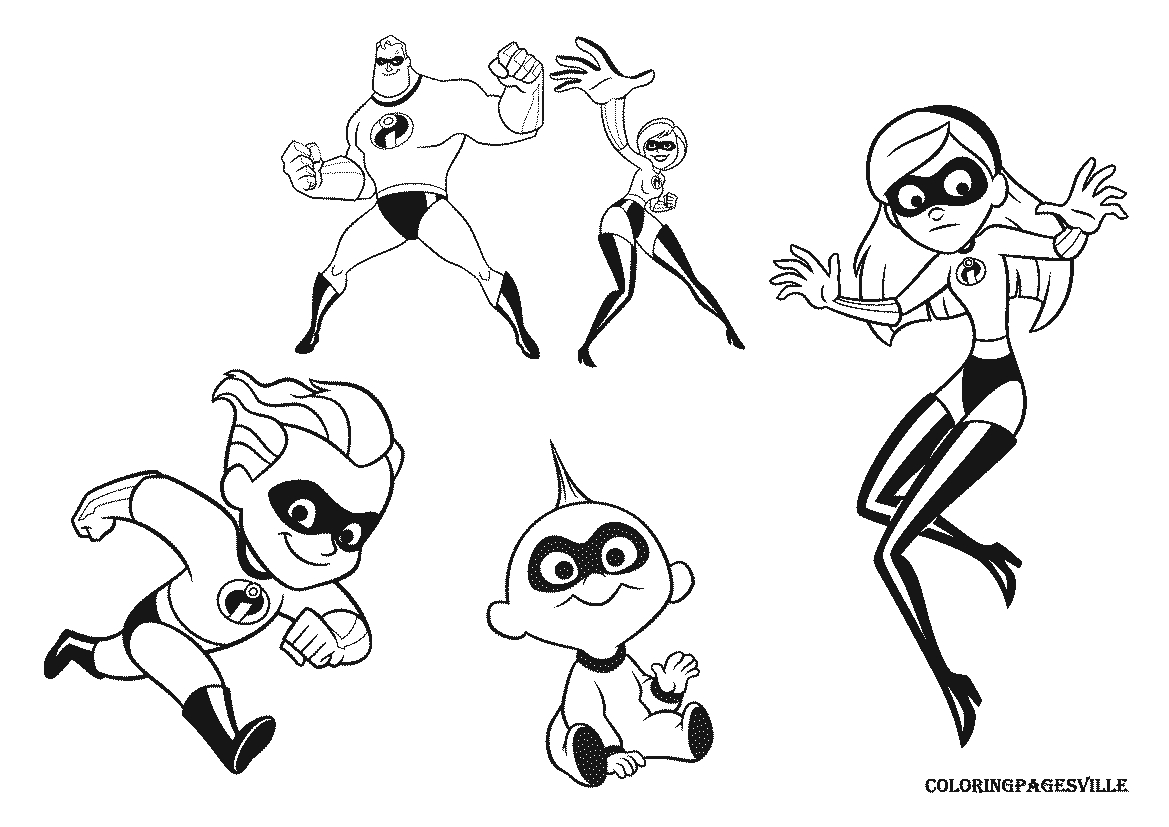1169x827 The Incredibles Coloring Pages Epartners Incredibles Coloring Page