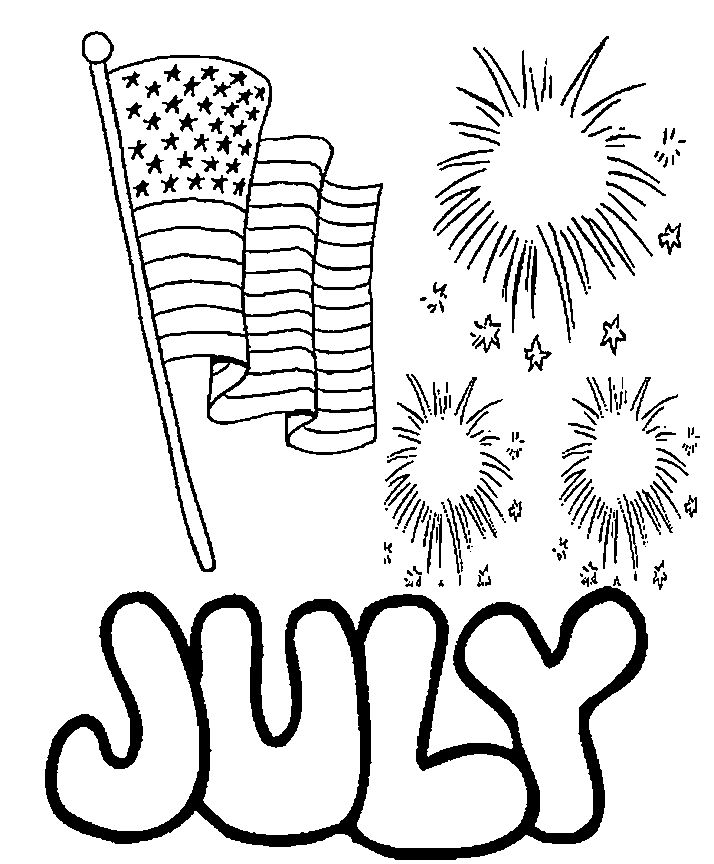 Independence Coloring Pages