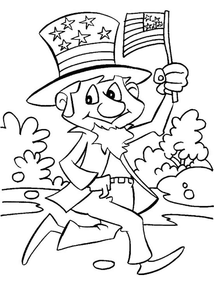 750x1000 Independence Day Coloring Pages Free Printable Independence Day