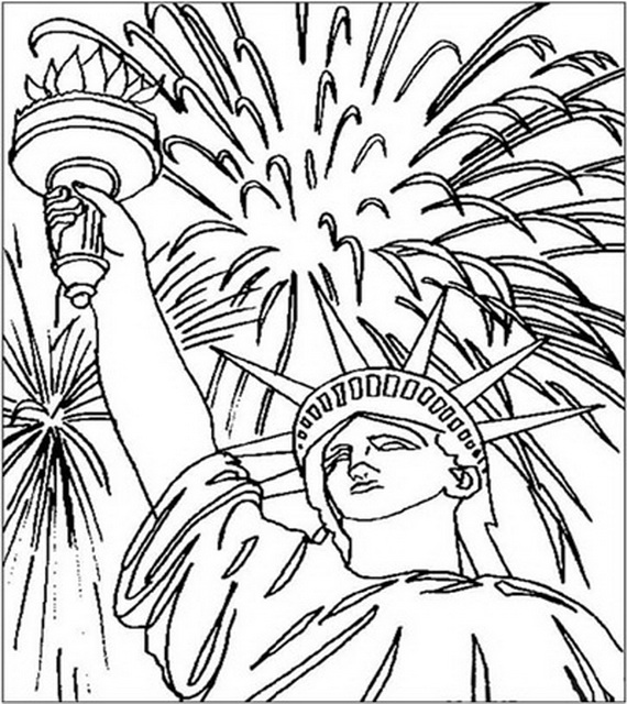 570x640 Independence Day Coloring Pages Independence Day Coloring Pages