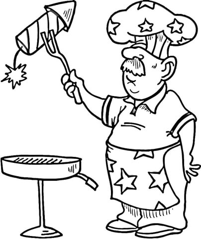 404x480 Independence Day Coloring Pages Independence Day Bbq Coloring Page