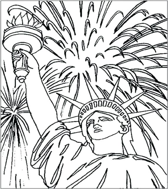570x640 Independence Day Coloring Sheets Independence Day Coloring Pages