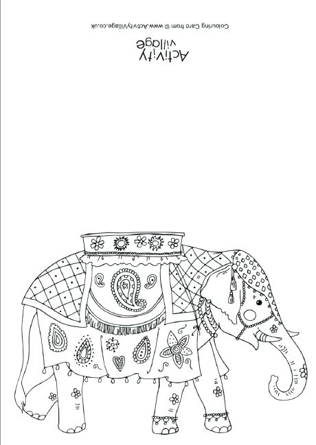 460x649 India Colouring Pages Indian Elephant Colouring Card India Flag