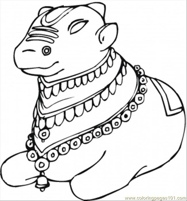 650x700 Indian Cow Coloring Page